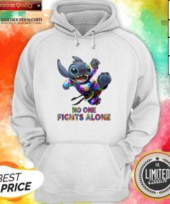 Stitch Autism No One Fights Alone Hoodie
