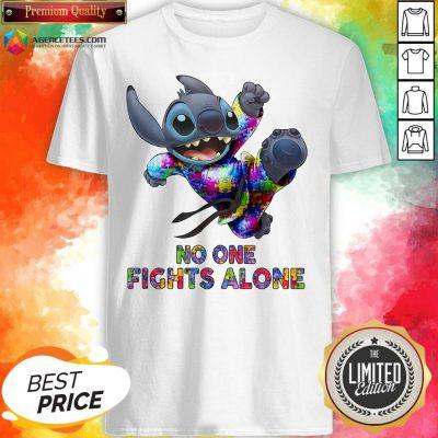 Stitch Autism No One Fights Alone Shirt
