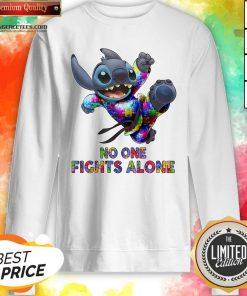 Stitch Autism No One Fights Alone Sweatshirt