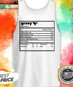 Thanksgiving Gravy Nutrition Facts Funny Christmas Tank Top