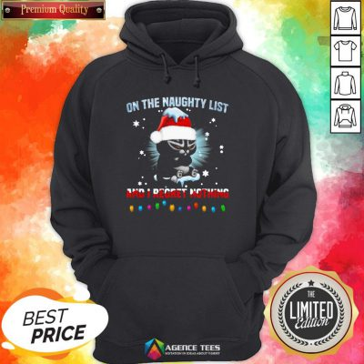 Top Cat On The Naughty List And I Regret Nothing Christmas Hoodie Design By Agencet.com