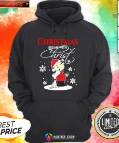 Top Christmas Begins With Christ Charlie Brown Snoopy Hoodie Design By Agencet.com