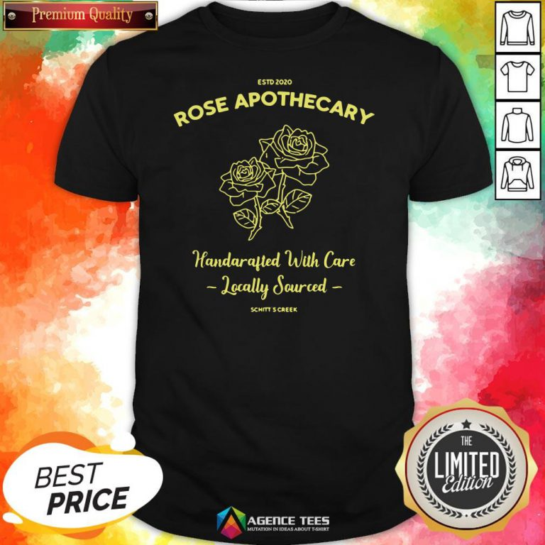 Top Estd 2020 Rose Apothecary Handcrafted With Care Locally Sourced Shirt Design By Agencet.com