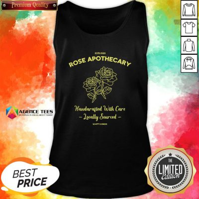 Top Estd 2020 Rose Apothecary Handcrafted With Care Locally Sourced Tank Top Design By Agencet.com