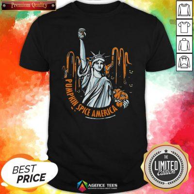 Top Pumpkin Spice Of America Pumpkin Halloween Evil Shirt