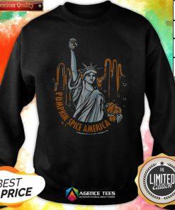 Top Pumpkin Spice Of America Pumpkin Halloween Evil Sweatshirt