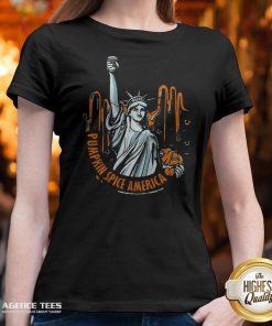 Top Pumpkin Spice Of America Pumpkin Halloween Evil V-neck