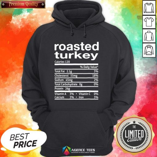 Top Roasted Turkey Nutrition Facts 2020 Thanksgiving Christmas Hoodie Design By Agencet.com