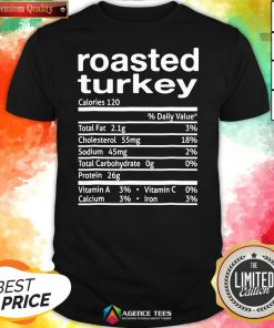 Top Roasted Turkey Nutrition Facts 2020 Thanksgiving Christmas Shirt Design By Agencet.com