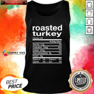 Top Roasted Turkey Nutrition Facts 2020 Thanksgiving Christmas Tank Top Design By Agencet.com