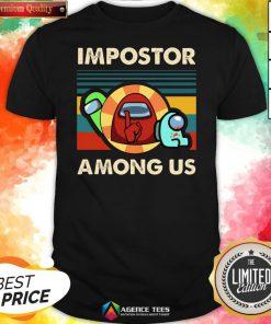 Top Vintage Impostor Among Us Funny Vintage Game Sus Shirt Design By Agencet.com