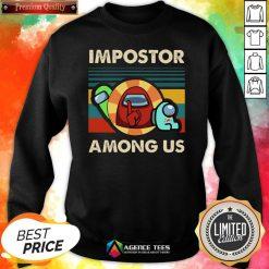 Funny I Practice Stitch Craft V-neckTop Vintage Impostor Among Us Funny Vintage Game Sus Sweatshirt Design By Agencet.com