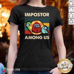 Top Vintage Impostor Among Us Funny Vintage Game Sus V-neck Design By Agencet.com