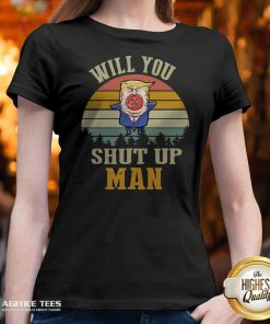 Top Vintage Retro Will You Shut Up Man Political Debate V-neck