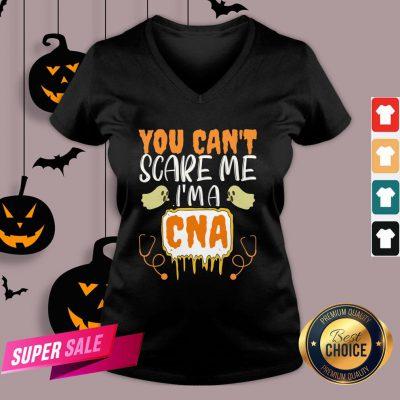 You Cant Scare Me I'm A CNA Halloween Nurse V-neck