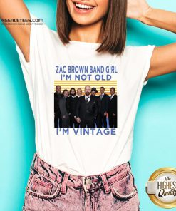 Zac Brown Band Girl I'm Not Old I'm Vintage Retro V-neck