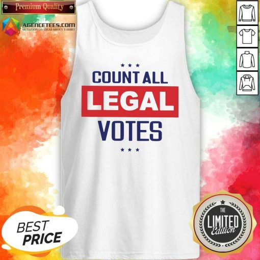 Awesome Count All Legal Votes Tank Top - Design By Agencetees.com