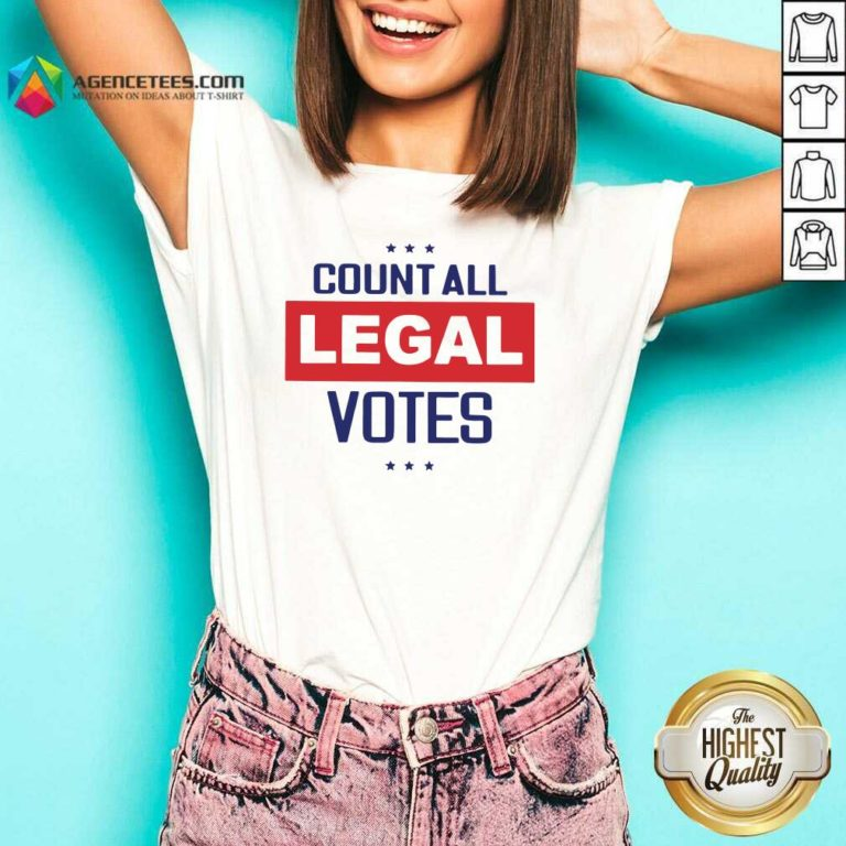 Awesome Count All Legal Votes V-neck - Design By Agencetees.com