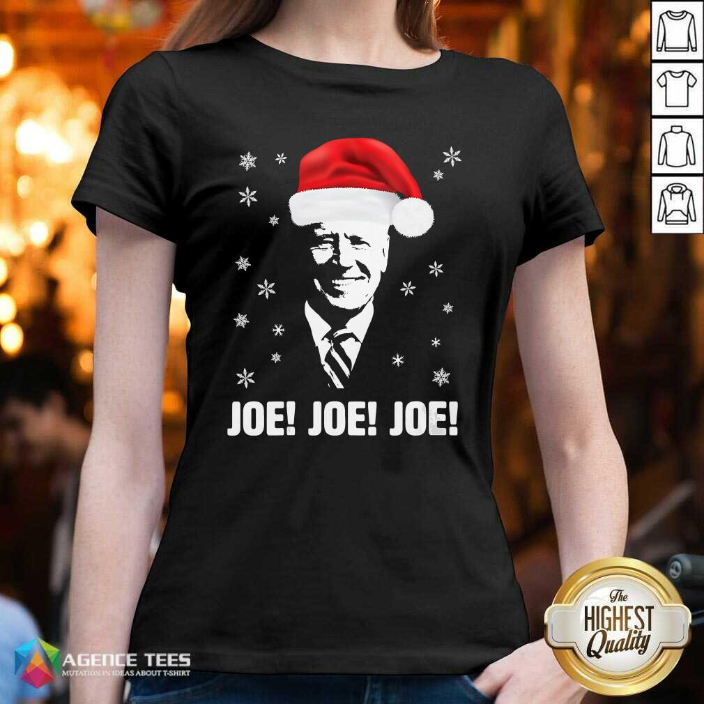 Awesome Joe Biden Santa Claus Father Christmas 2020 Jolly V-neck - Design By Agencetees.com