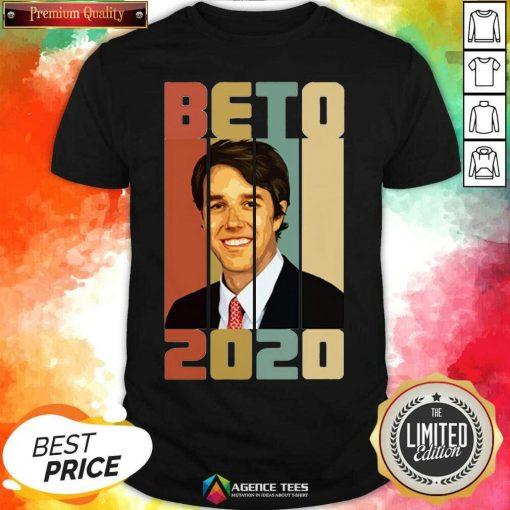 Beto ORourke Smile 2020 US President Campaign Vintage Retro Shirt - Design By Agencetees.com