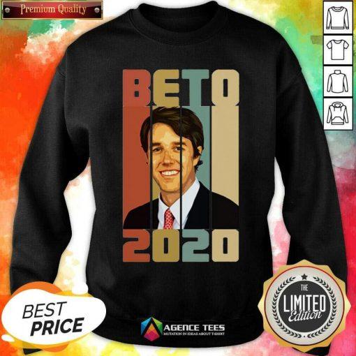Beto ORourke Smile 2020 US President Campaign Vintage Retro Sweatshirt - Design By Agencetees.com