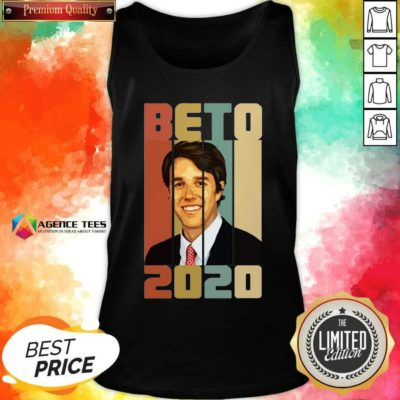 Beto ORourke Smile 2020 US President Campaign Vintage Retro Tank Top - Design By Agencetees.com