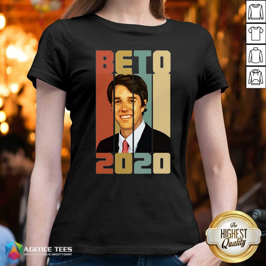 Beto ORourke Smile 2020 US President Campaign Vintage Retro V-neck - Design By Agencetees.com