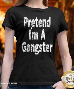 Funny Pretend Im A Gangster Halloween V-neck - Design By Agencetees.com