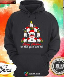 Merry Christmas Let The Good Time Roll Santa Face Mask 2020 Toilet Paper Xmas Tree Hoodie - Design By Agencetees.com