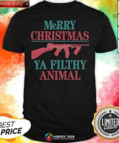 Nice Merry Christmas Gun Ya Filthy Animal Shirt - Design By Agencetees.com