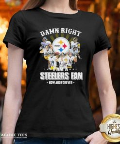 Nice So Damn Right I Am A Pittsburgh Steelers Fan Now And Forever Signature V-neck - Design By Agencetees.com