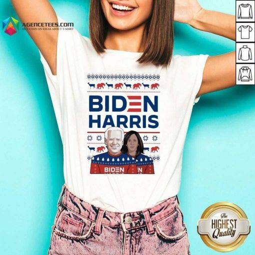 Official Biden Harris Ugly Christmas 2020 V-neck - Design By Agencetees.com