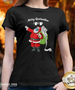 Official Christmas 2020 Santa Mask Santa Bag Toilet Paper V-neck - Design By Agencetees.com
