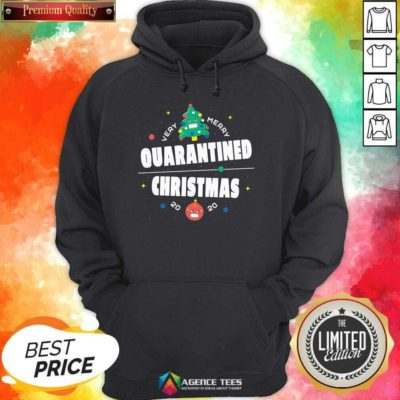 Official Very Merry Quarantined Christmas 2020 Christmas Tree Holiday Hoodie - Design By Agencetees.com