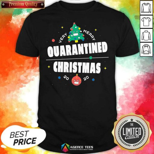 Official Very Merry Quarantined Christmas 2020 Christmas Tree Holiday Shirt - Design By Agencetees.com