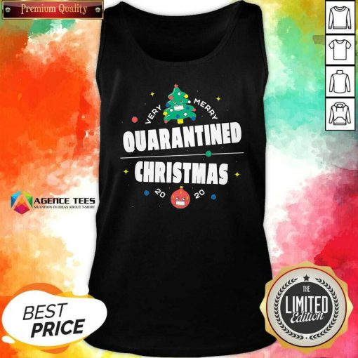 Official Very Merry Quarantined Christmas 2020 Christmas Tree Holiday Tank Top - Design By Agencetees.com
