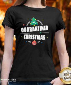 Official Very Merry Quarantined Christmas 2020 Christmas Tree Holiday V-neck - Design By Agencetees.com