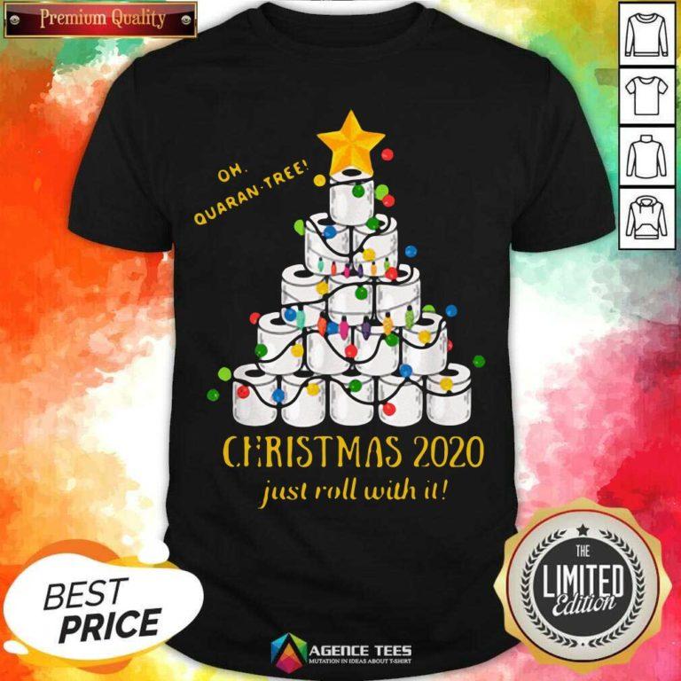 Premium 2020 Quarantine Christmas Toilet Paper Tree Shirt - Design By Agencetees.com
