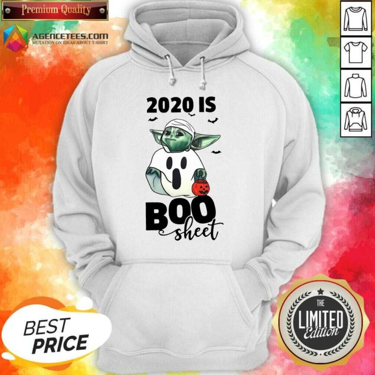 Premium Baby Yoda Ghost 2020 Is Boo Sheet Hoodie - Design By Agencetees.com
