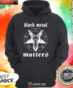 Premium Black Metal Matters Fox Star Hoodie - Design By Agencetees.com