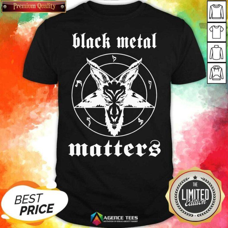 Premium Black Metal Matters Fox Star Shirt - Design By Agencetees.com