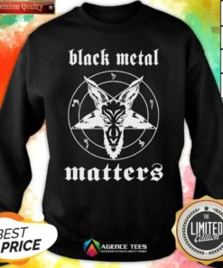 Premium Black Metal Matters Fox Star Sweatshirt - Design By Agencetees.com