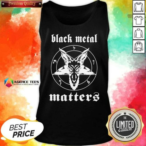 Premium Black Metal Matters Fox Star Tank Top - Design By Agencetees.com