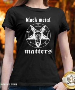 Premium Black Metal Matters Fox Star V-neck - Design By Agencetees.com
