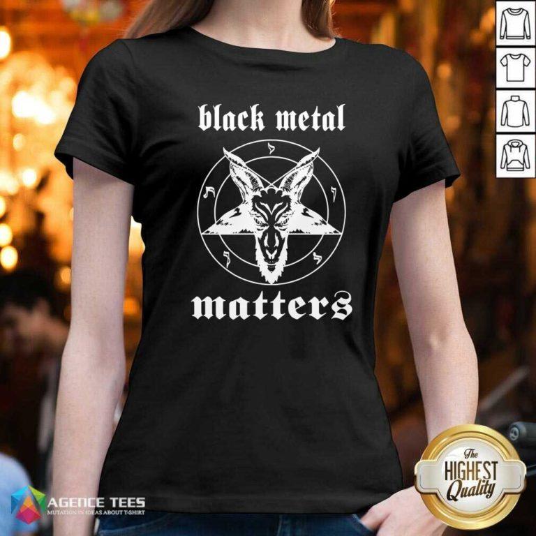 Premium Black Metal Matters Fox Star V-neck - Design By Agencetees.com