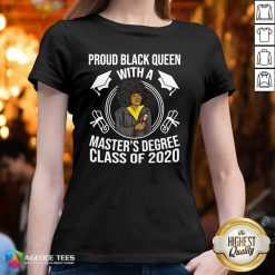 Proud Black Queen With A Master's Degree Class Of 2020 Graduation Day V-neck - Design By Agencetees.com