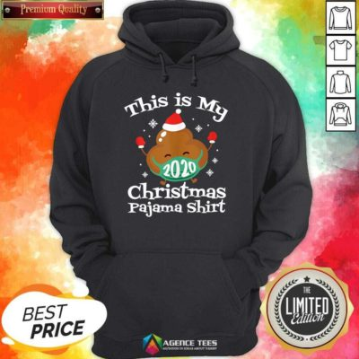 This Is My Christmas Pajama 2020 Poop Face Mask Family Matching Xmas Hoodie - Design By Agencetees.com