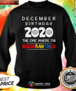 Top December Birthday 2020 The One Where I'm Quarantined Sweatshirt - Design By Agencetees.com