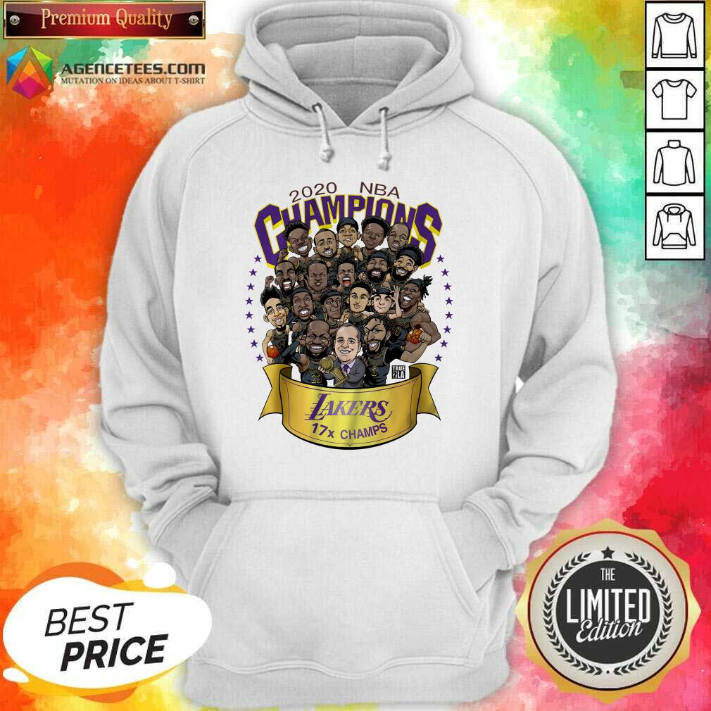 Top Good 2020 Nba Champions Los Angeles Lakers 17 Champs Cartoon Hoodie - Design By Agencetees.com
