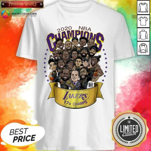 Top Good 2020 Nba Champions Los Angeles Lakers 17 Champs Cartoon Shirt - Design By Agencetees.com